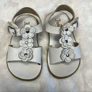 FootMates Girls Jasmine Applique Sandal White Sz 7